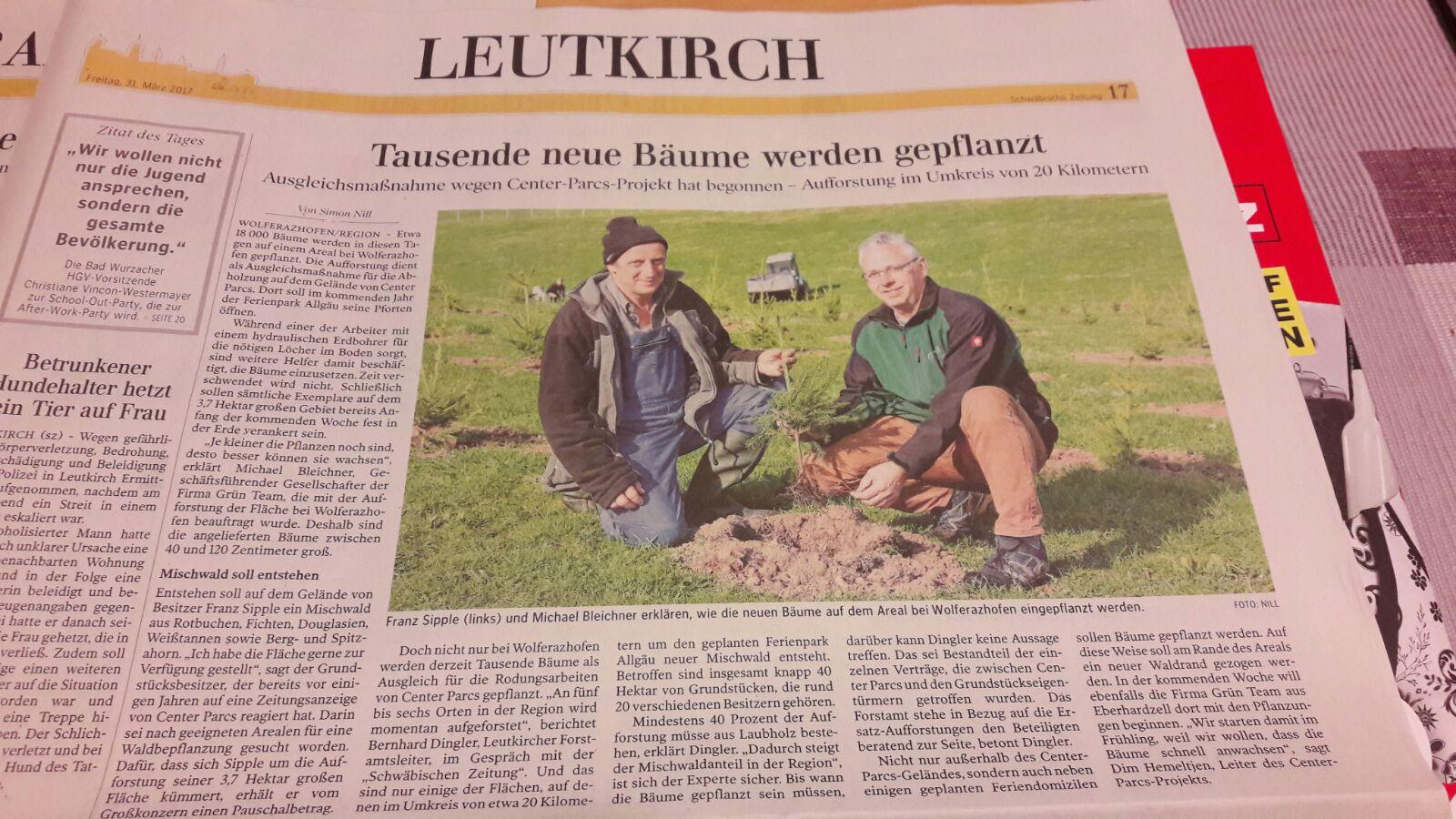 Schwäbische Zeitung Ausgabe Leutkirch 31.03.17